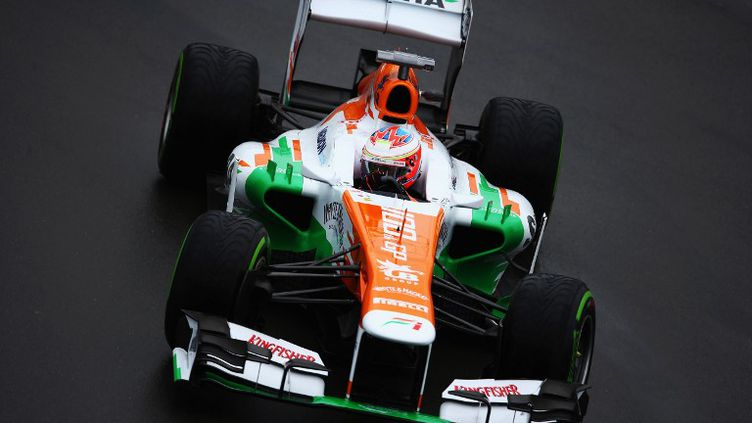Paul di Resta a devancé Jenson Button et Sébastien Grosjean lors des essais libres.  (PAUL GILHAM / GETTY IMAGES NORTH AMERICA)
