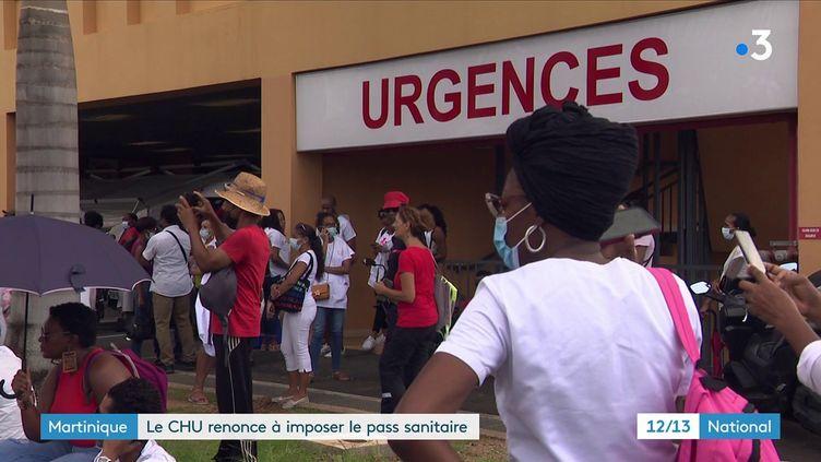 La Martinique a levé l'obligation du pass sanitaire pour le personnel soignant. Les employés du CHU de Martinique pourront exercer leur profession, qu'ils soient testés, vaccinés, ou non. (CAPTURE ECRAN FRANCE 3)