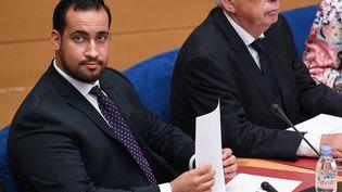 Alexandre Benalla lors de son audition parlementaire au Sénat, mercredi 19 septembre 2018. (ALAIN JOCARD / AFP)