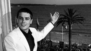 Alain Delon au 14e Festival de Cannes en 1961.  (HUFFSCHMITT/SIPA)