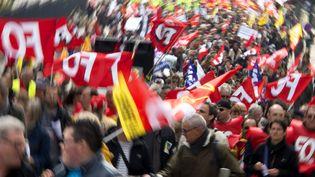 Manifestation du 1er mai en 2013 à Rennes. (DAMIEN MEYER / AFP)
