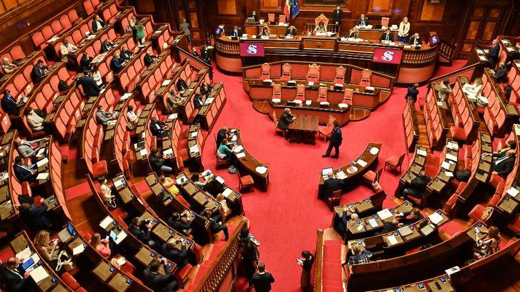 Le Sénat italien,à Rome, le 30 juillet 2020. (ANDREAS SOLARO / AFP)
