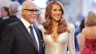 René Angélil et Céline Dion, le 27 février 2011 àHollywood (Etats-Unis). (JOHN SHEARER / GETTY IMAGES NORTH AMERICA / AFP)