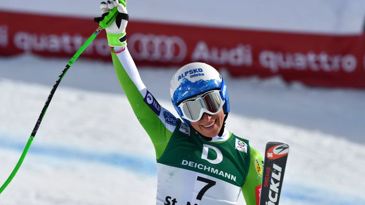 Ilka Stuhec, championne du monde de descente (DIMITAR DILKOFF / AFP)