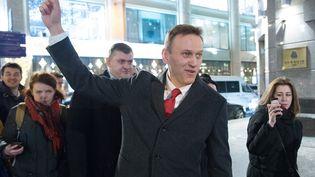 L'opposant russe Alexeï Navalny, le 25 décembre 2017 à Moscou. (DMITRY SEREBRYAKOV / AFP)