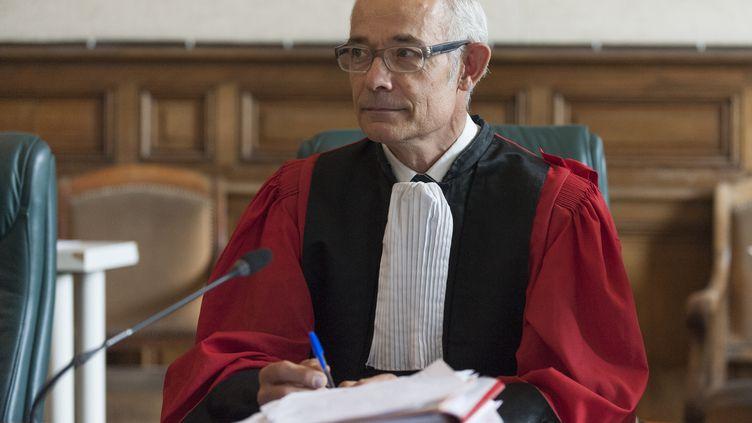 Etienne Fradin, président de la cour d'assises de Haute-Loire, au Puy-en-Velay, le 9 octobre 2017. (THIERRY ZOCCOLAN / AFP)