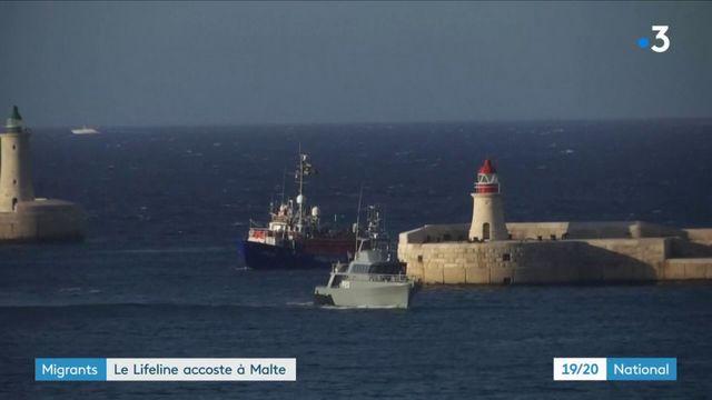 Migrants : le Lifeline accoste à Malte