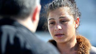 Dolores Lopez, la mère du petit Vicente, le 30 mars 2017, au lendemain de l'enlèvement de son fils à Clermont-Ferrand. (MAXPPP)