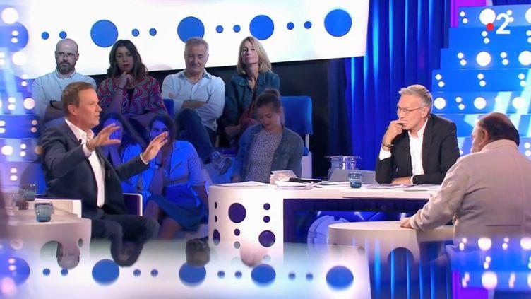 """Nicolas Dupont-Aignan sur le plateau de l'émission """"On n'est pas couché"""", le 23 juin 2018. (FRANCE 2)"""