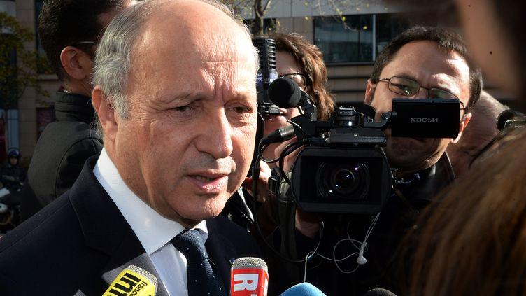 Le ministre des Affaires étrangères Laurent Fabius, à Paris, le 3 novembre 2013. (PIERRE ANDRIEU / AFP)