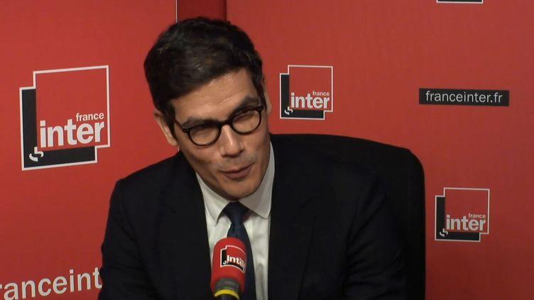 Mathieu Gallet dans le studio de France Inter, le 22 février 2018. (FRANCE INTER / RADIO FRANCE)