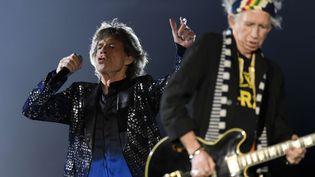 Mick Jagger (à gauche) et Keith Richards, des Rolling Stones, le 20 septembre 2017 à Zurich (Suisse). (WALTER BIERI / AP / SIPA)