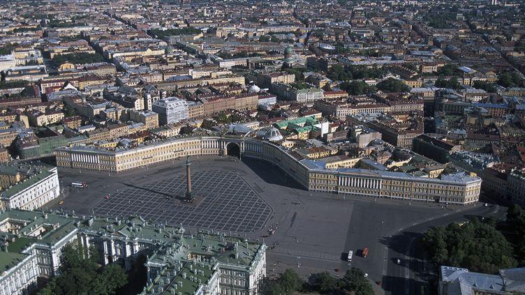 Vue aérienne de Saint-Petersbourg, le 2 avril 2012 (WOJTEK BUSS / ONLY WORLD  / AFP)