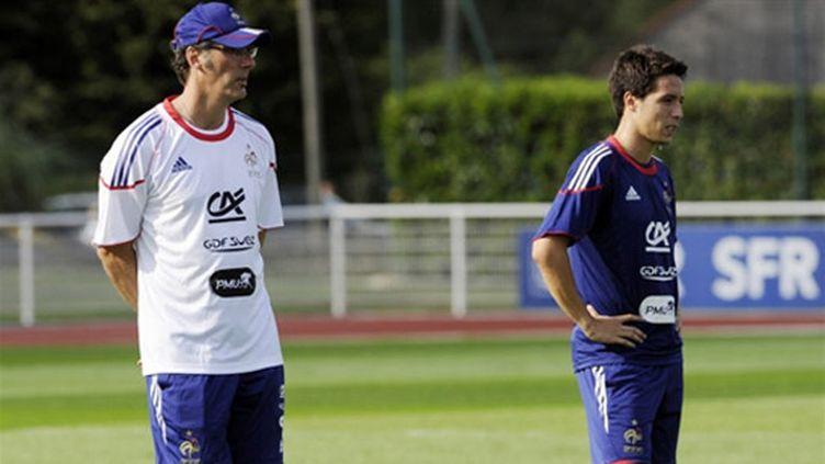 Samir Nasri aux côtés de Laurent Blanc