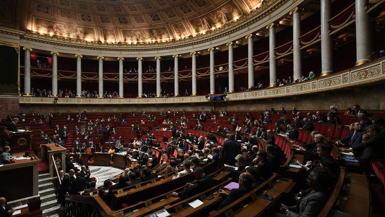 L'Hémicycle de l'Assemblée nationale, le 19 novembre 2019. (PHILIPPE LOPEZ / AFP)