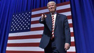 Le candidat républicain Donald Trump lors d'un meeting à Aston (Pennsylvanie, Etats-Unis), le 22 septembre 2016. (MANDEL NGAN / AFP)
