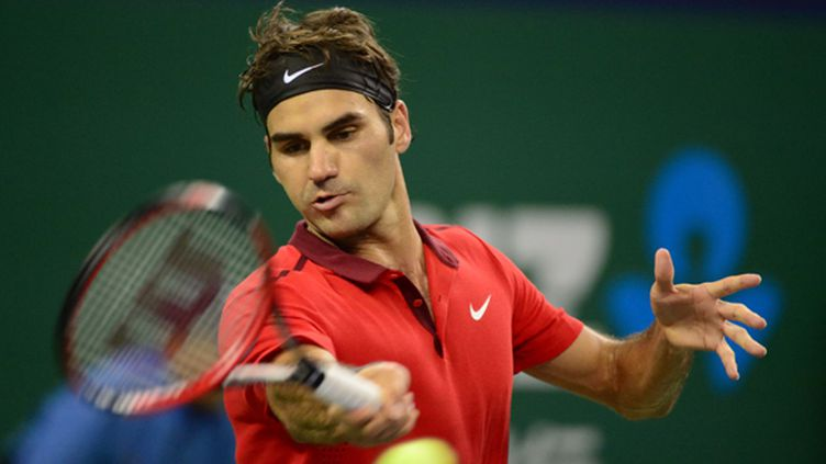Roger Federer et son magnifique coup droit (YU JIANZHONG / IMAGINECHINA)