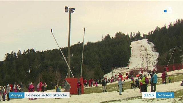 Vosges : un hiver sans neige en haut des pistes