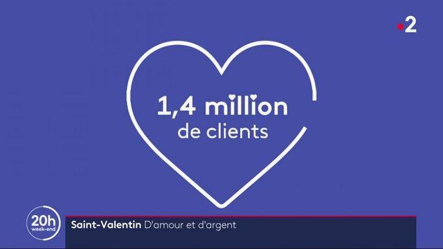 Saint-Valentin : l'amour en chiffres