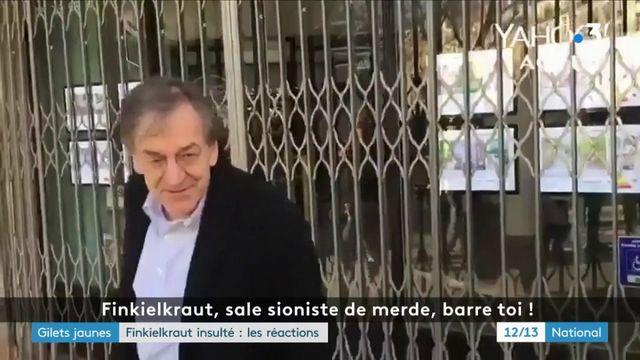 """""""Gilets jaunes"""" : les réactions après l'agression d'Alain Finkielkraut"""