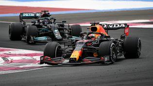 Max Verstappen a remporté le Grand Prix de France dimanche 20 juin. (CHRISTOPHE SIMON / AFP)