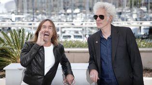 """Iggy Pop et Jim Jarmusch au festival de Cannes en 2016 pour """"Gimme Danger"""", le documentaire sur les Stooges signé Jarmusch.  (n)"""