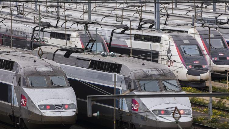 Des TGV au Technicentre Atlantique de Châtillon, le 31 octobre 2019. (VINCENT ISORE / MAXPPP)