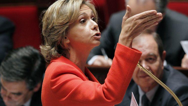 La ministre du Budget Valérie Pécresse à l'Assemblée nationale, le 2 novembre 2011, à Paris. (FRANCOIS GUILLOT / AFP)