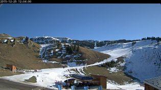 La station de Chamrousse(Isère), à 1 650 mètres d'altitude, le 25 décembre 2015.