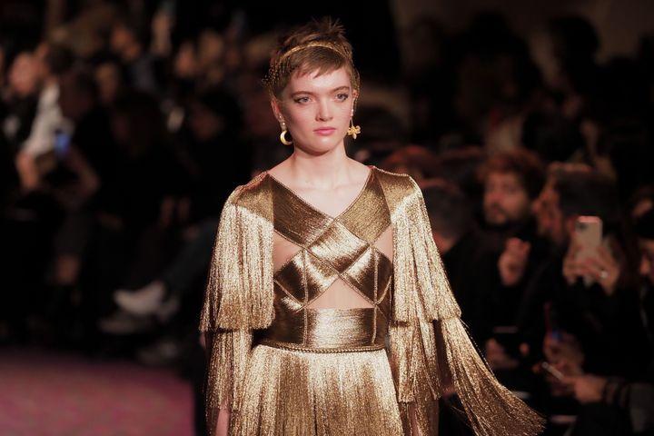 Défilé Dior haute couture printemps-été 2020, le 20 janvier 2020 dans l'enceinte du musée Rodin à Paris (LAURENT VU/SIPA / LAURENT VU)