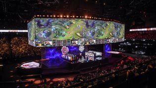 La finale des Worlds 2019 de League of Legends à Bercy (LUCAS BARIOULET / AFP)