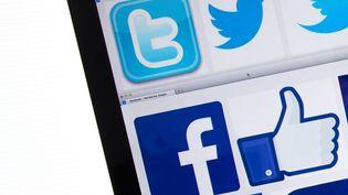 Logos de réseaux sociaux sur un écran. (MAXPPP)