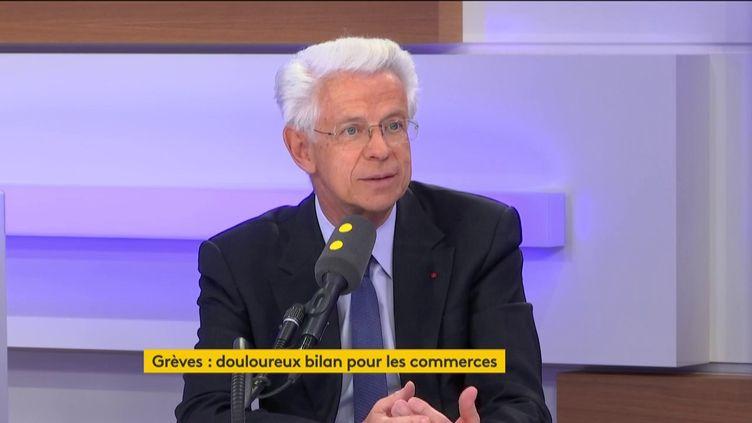 Didier Kling, le président de la chambre de commerceParis/Île-de-France, invité de franceinfo vendredi 10 janvier 2020. (FRANCEINFO / RADIO FRANCE)