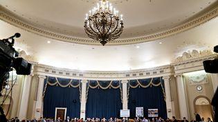 La commission judiciaire de la Chambre des représentants, à Washington, réunie jeudi 12 décembre. (POOL / GETTY IMAGES NORTH AMERICA / AFP)