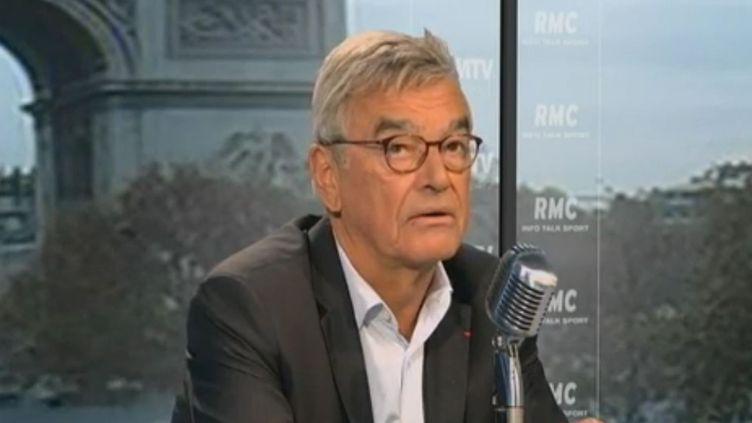 Jean-Michel Hieaux, le vice-président du collège-lycée Cévenol du Chambon-sur-Lignon (Haute-Loire), le 21 novembre 2011 sur BFMTV. (BFMTV)