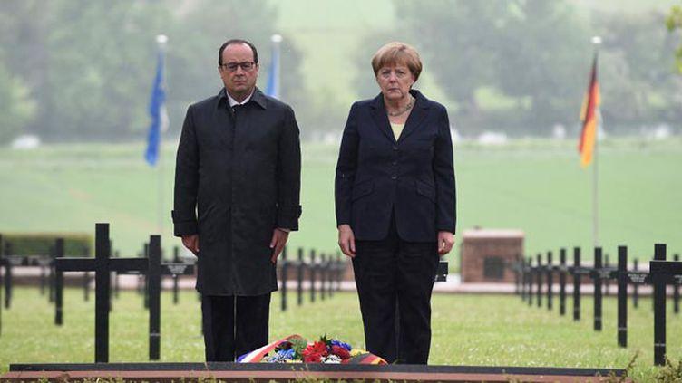 (François Hollande et Angela Merkel commémorent depuis ce matin le centenaire de la bataille de Verdun © maxPPP)