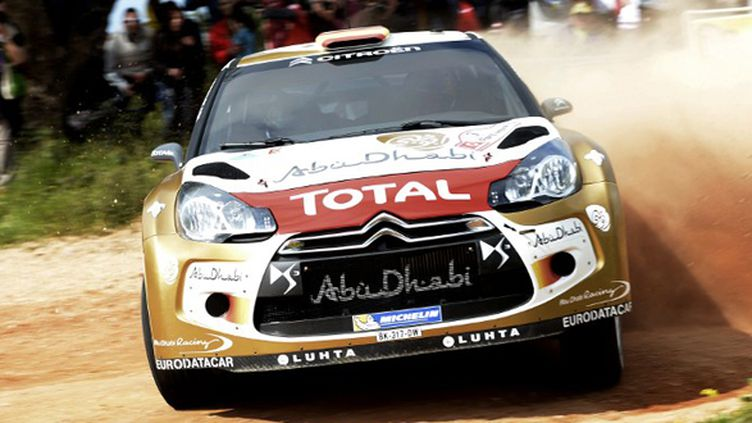 Une Citroën DS3 WRC (FRANCISCO LEONG / AFP)