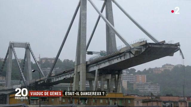 Effondrement d'un pont à Gênes : le viaduc était-il dangereux ?