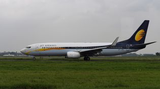 L'appareil appartient à la compagnie Jet Airways. (SAJJAD HUSSAIN / AFP)