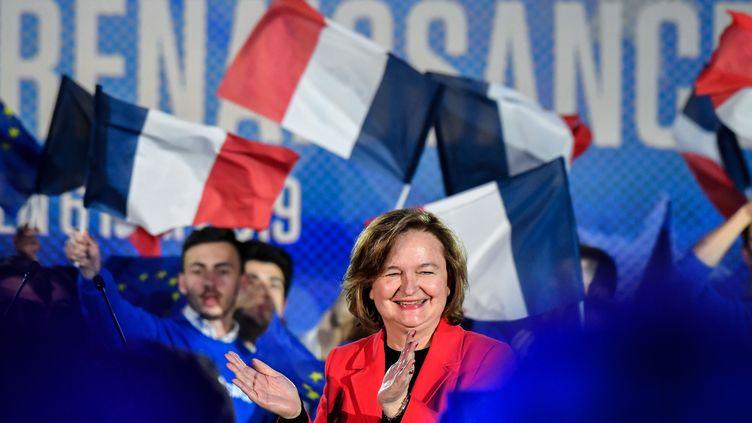 La tête de liste La République en marche, Nathalie Loiseau, le 6 mai 2019 à Caen (Calvados). (DAMIEN MEYER / AFP)