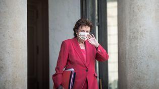 La ministre de la Culture Roselyne Bachelot à la fin du Conseil des Ministres le 25 août 2021. (ARTHUR NICHOLAS ORCHARD / HANS LUCAS)