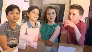 Quelques-uns des10 enfants quiont répondu aux questions de franceinfo sur la crise du Covid-19, fin avril 2021. (FRANCEINFO)