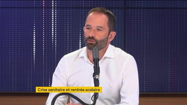Benoit Hamon, le 14 septembre 2020, sur franceinfo. (FRANCEINFO / RADIO FRANCE)
