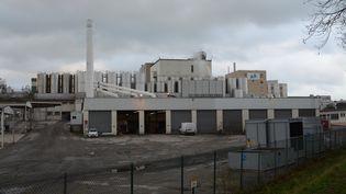 L'usine Celia, qui appartient au groupe Lactalis, de Craon, en Mayenne, jeudi 11 janvier 2018. (RONAN HOUSSIN / CROWDSPARK / AFP)