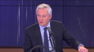 Bruno Le Maire, ministre de l'Économie, des Finances et de la Relance, le 23 septembre 2021 sur franceinfo. (FRANCEINFO / RADIO FRANCE)