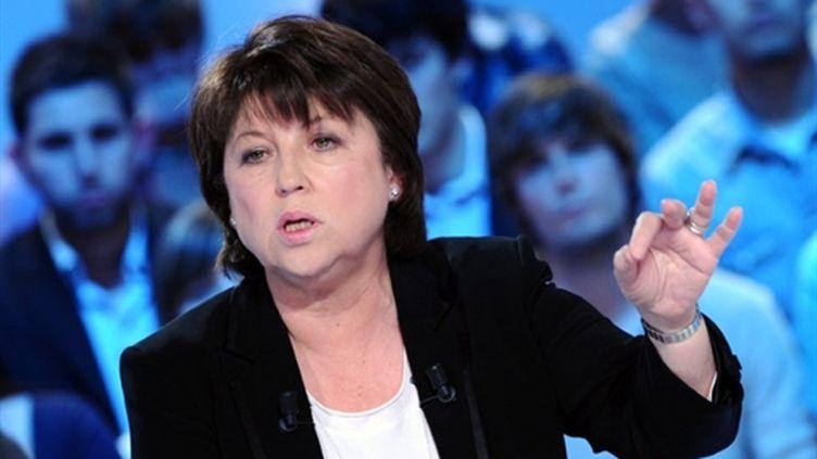 Martine Aubry, première secrétaire du Parti socialiste (21 mars 2011) (AFP/MIGUEL MEDINA)