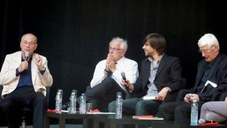 Boris Cyrulnik, Philippe Meirieu et Tomi Ungerer aux Assises du roman de Lyon  (Marie Pujolas)