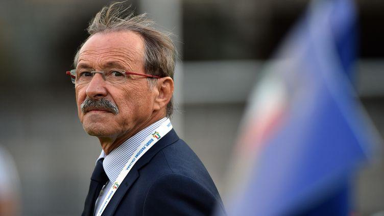 Le sélectionneur du XV d'Italie Jacques Brunel. (GABRIEL BOUYS / AFP)