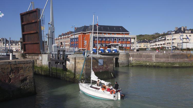 Le port de Dieppe (Seine-Maritime),dont la partie port de plaisance est labellisée depuis 2010. (NICOLAS THIBAUT / PHOTONONSTOP / AFP)