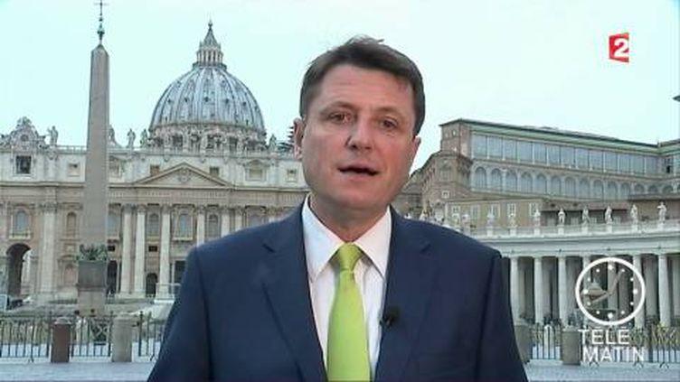François Beaudonnet, correspondant de France 2 à Rome. (FRANCE 2)